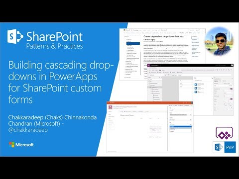 Community Call Demo - Building cascading drop-downs in PowerApps for SharePoint custom forms