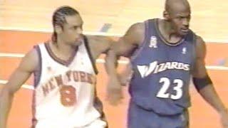 Michael Jordan (Age 38) shuts down Latrell Sprewell Again