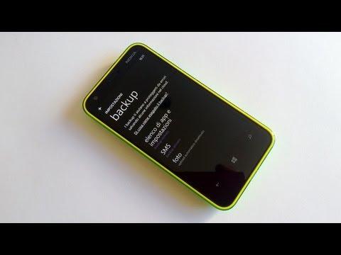 Eseguire e ripristinare backup Windows Phone 8 (Impostazioni, SMS, Foto e video)