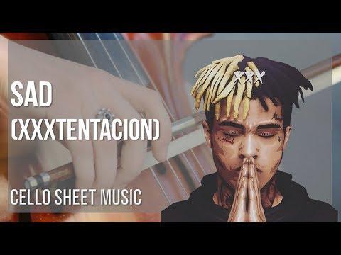 EASY Cello Sheet Music: How to play Sad by XXXTENTACION