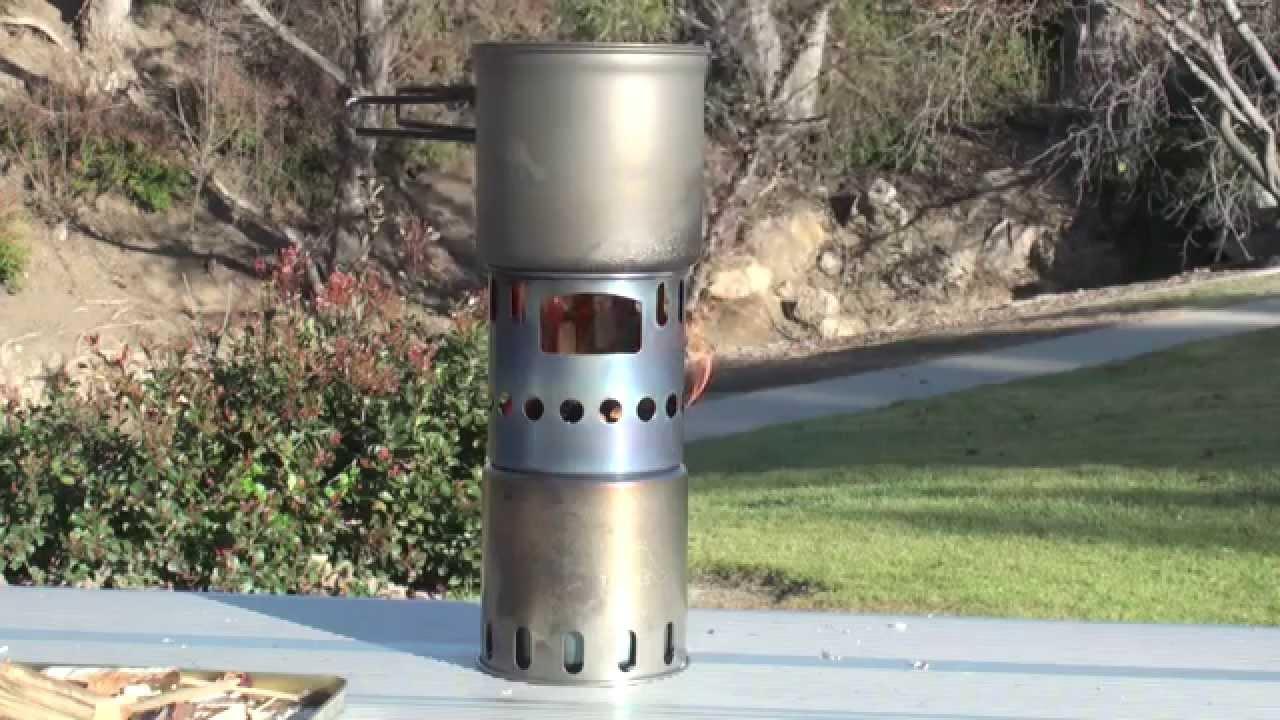 toaks titanium backpacking wood burning stove youtube