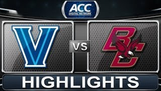 2013 ACC Football Highlights | Villanova vs Boston College | ACCDigitalNetwork