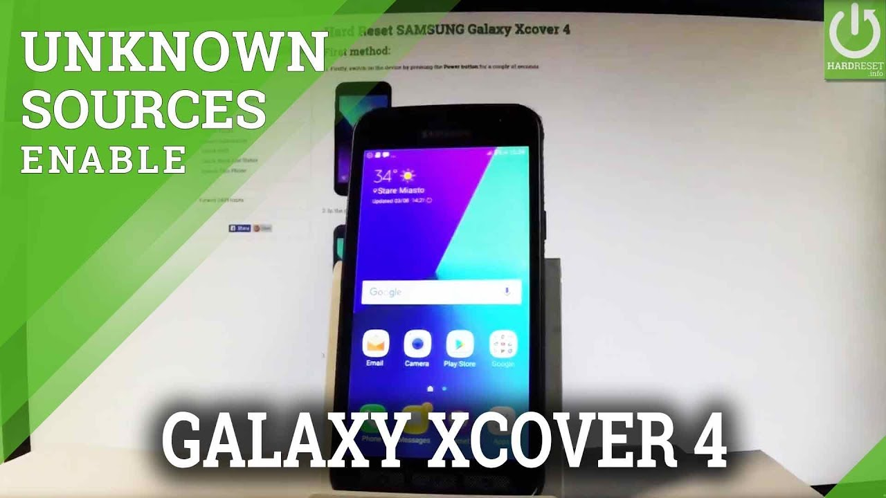 SAMSUNG Galaxy Xcover 4 UNKOWN SOURCES / Install Apps