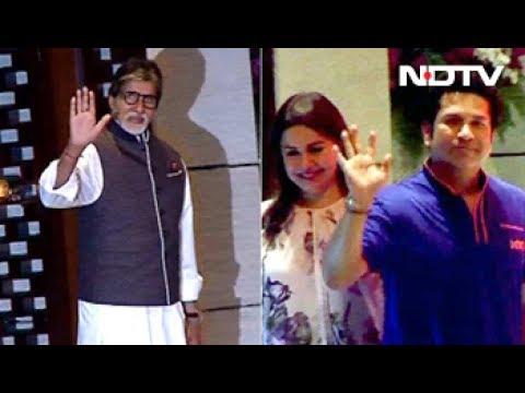 Big B, Sachin At Ambani Party For Mumbai Indians