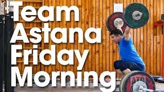 ATG on Tour Team Astana Friday Morning Training Part 1 Where is Ilya???
