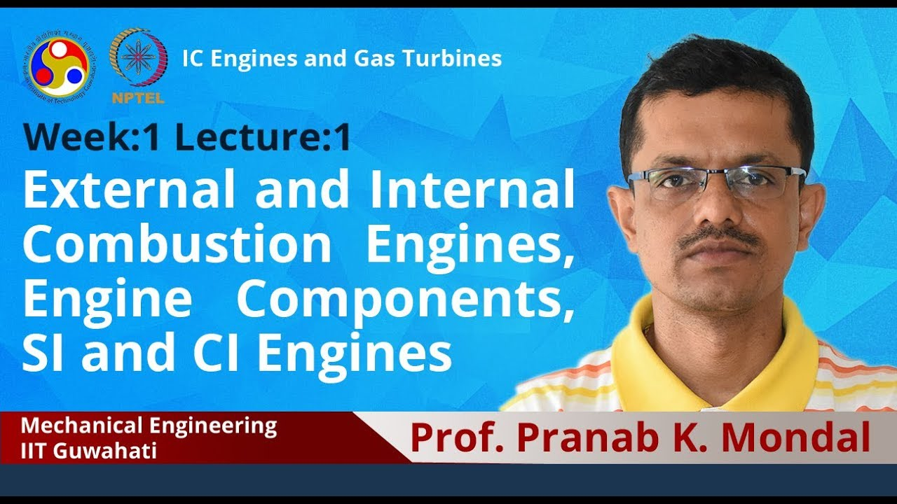 Nptel Noc Ic Engines And Gas Turbines Mechanical Engineering