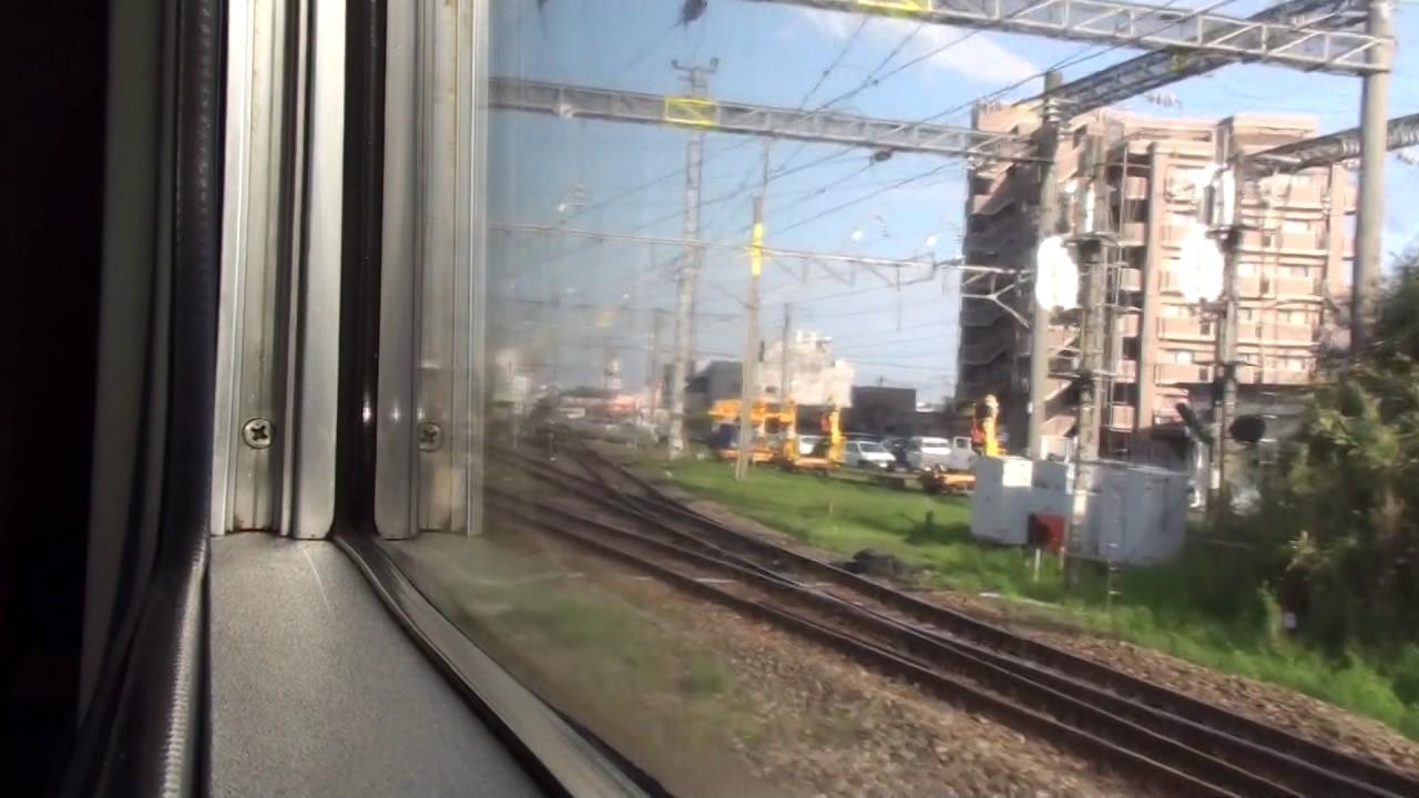 JR長崎本線 車窓 肥前鹿島駅~佐賀駅(787系內扇形特急かもめ)130km/h運転! - YouTube