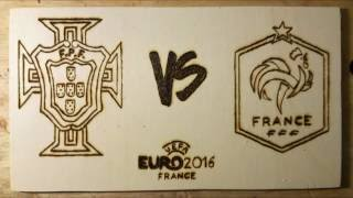 Portugal VS France, Euro2016 Final - Drawing in fast motion
