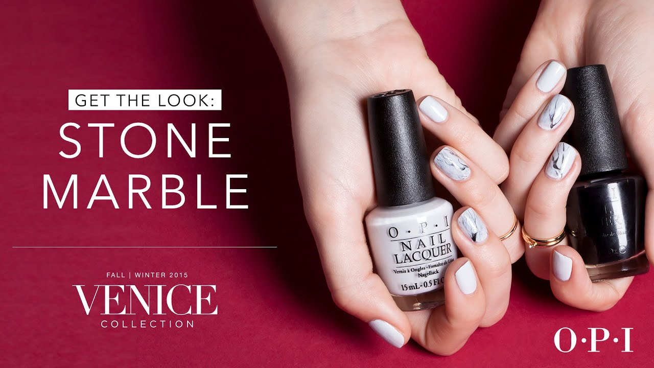 OPI Venice Collection Nail Art | Stone Marble - YouTube