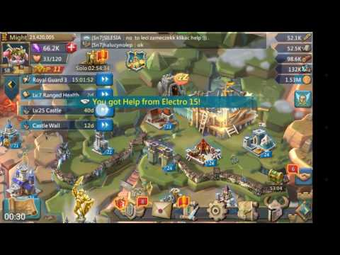 [Lords Mobile] Castle 25 Lvl Built In A Few Seconds!