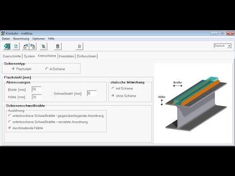 Structural analysis of a crane girder