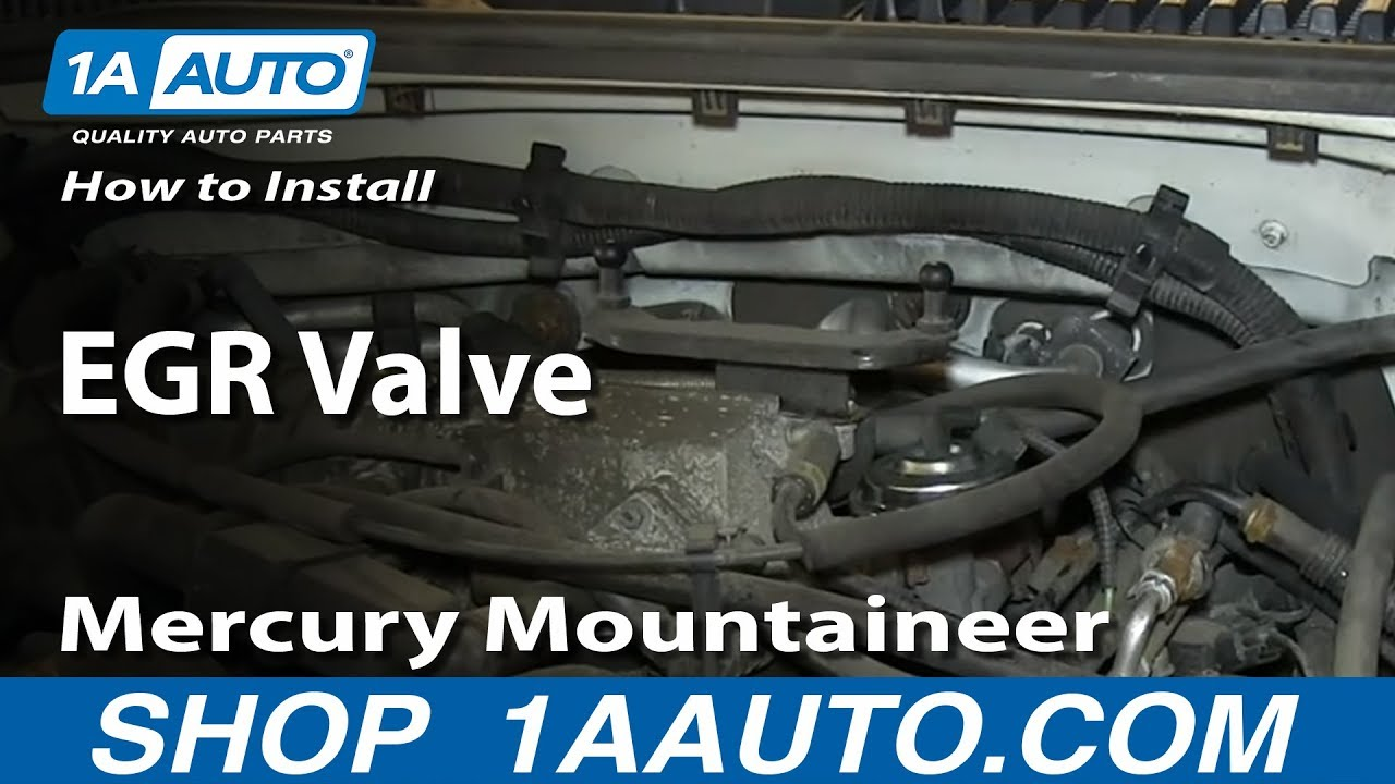 How to install replace egr valve 4 6l 2001 03 ford explorer mercury mountaineer youtube