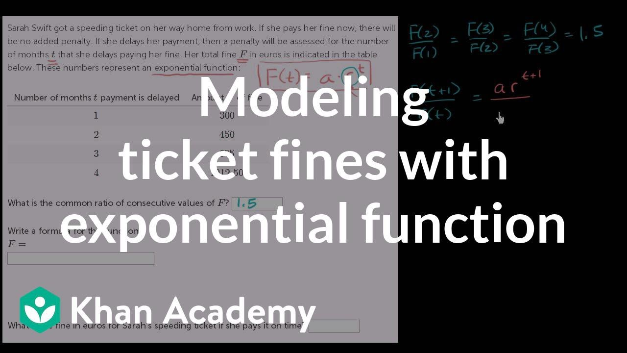 Modeling with basic exponential functions word problem (video