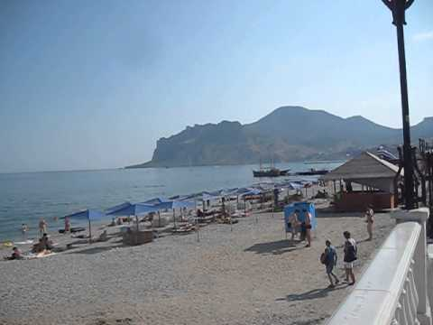 Beach at Koktebel Crimea 2015