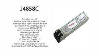 J4858C  |  HP compatible 1000Base-SX 850nm 550m MMF SFP