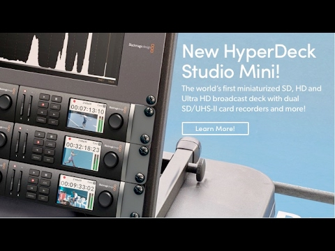 Blackmagic Design Hyperdeck Studio Mini First Thoughts Youtube