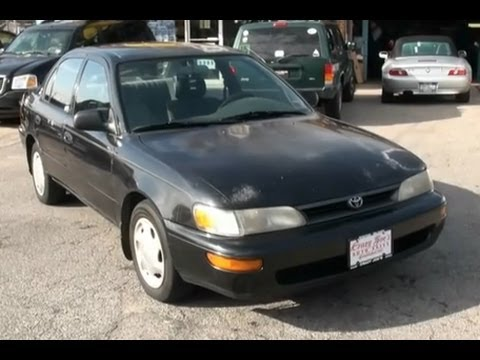 1995 Toyota Corolla Sedan Youtube