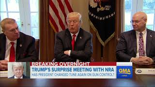 Download Video President Trump holds surprise late-night meeting with NRA MP3 3GP MP4
