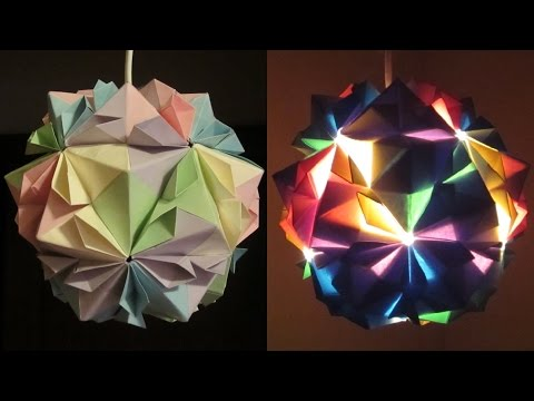 how to make paper lamp ball twist spiral