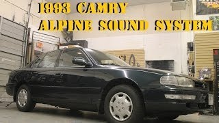 Builds: Toyota Camry Alpine Sound System (Type S)