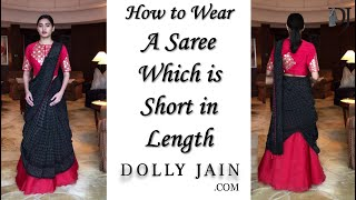 How to wear a saree which is s…