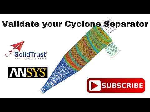 Cyclone Separator Performance Validation with ANSYS - SolidTrust