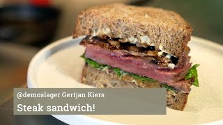 Steak Sandwich van @demoslager Gertjan Kiers