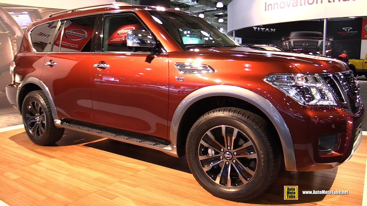 2017 Nissan Armada Platinum Exterior And Interior Walkaround 2016 New York Auto Show You