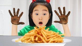 Boram com rostos e mãos negros! My face and my hands are black