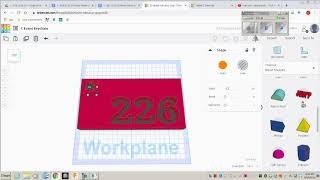 TinkerCAD Keychain Design