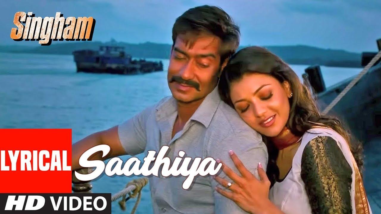 Lyrical Video Saathiya  Singham  Ajay Devgan, Kajal -3810