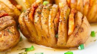 Картошка гармошка в духовке с куриной грудкой