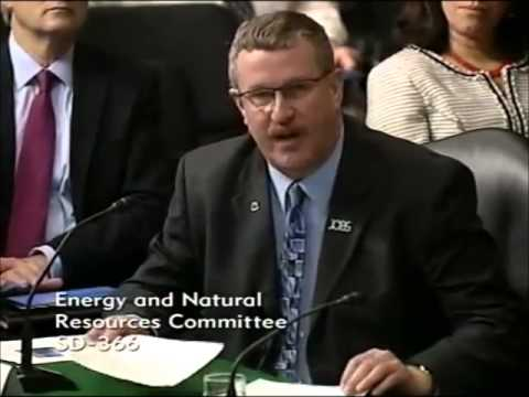John Mohlis Testifying in front of the U.S. Senate Committee on Energy and Natural Resources