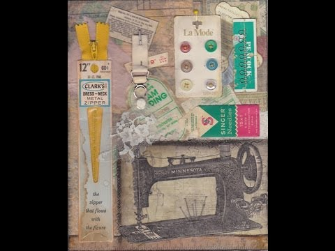 Vintage Sewing Journal Page
