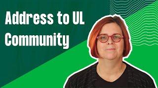 A Message From New University Of Limerick Interim President Professor Kerstin Mey