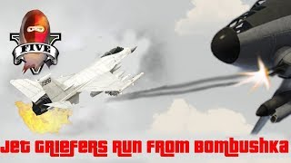 GTA Jet Griefers run from Bombushka and Easy Way out