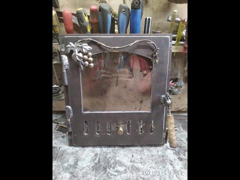 Дверца для печи со стеклом своими руками