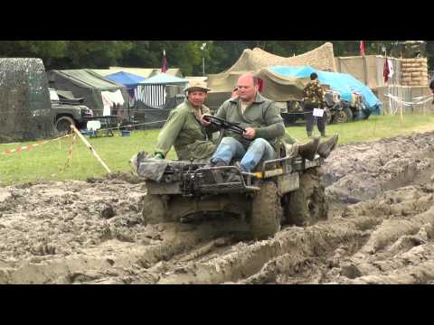 US Military Mechanical Mule M274 In The Mud At War & Peace Show 2012