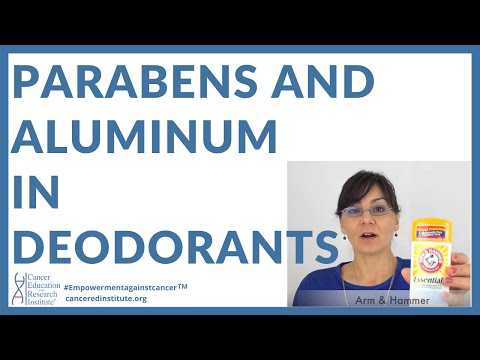 #25 | Parabens and Aluminum in deodorants, antiperspirants | By Cancer Ed & Res Institute