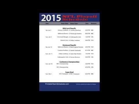 NFL Playoff Schedule 2015 | Nfl Games