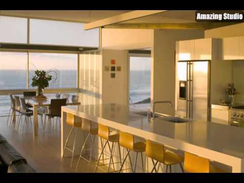 Minimalist Beach House with Kitchen Interior Design