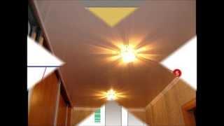 видео Шкафы купе на заказ в Твери. Встроенный шкаф купе и натяжной потолок.