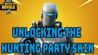 "Fortnite:Battle Royale ""Hunting Party Skin"" Gameplay - Fortnite Hunting party skin Gameplay Update"
