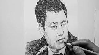 Садыр Жапаровдун портрети | зарисовка | Дамир Абсатаров | Акыркы Кабарлар