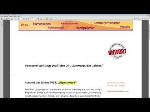 Lügenpresse als Unwort des Jahres 2014? Rico Albrecht analysiert die Pressemitteilung.