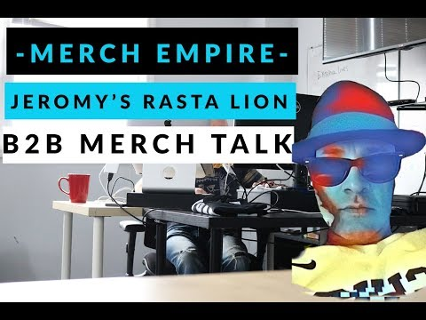 Merch Empire TV: Jeromy's Rasta Lion Shirt, B2B Merch Talk