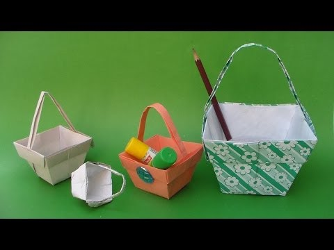 How to Make a Beautiful Paper Basket for Gifts, Fruits, Flowers