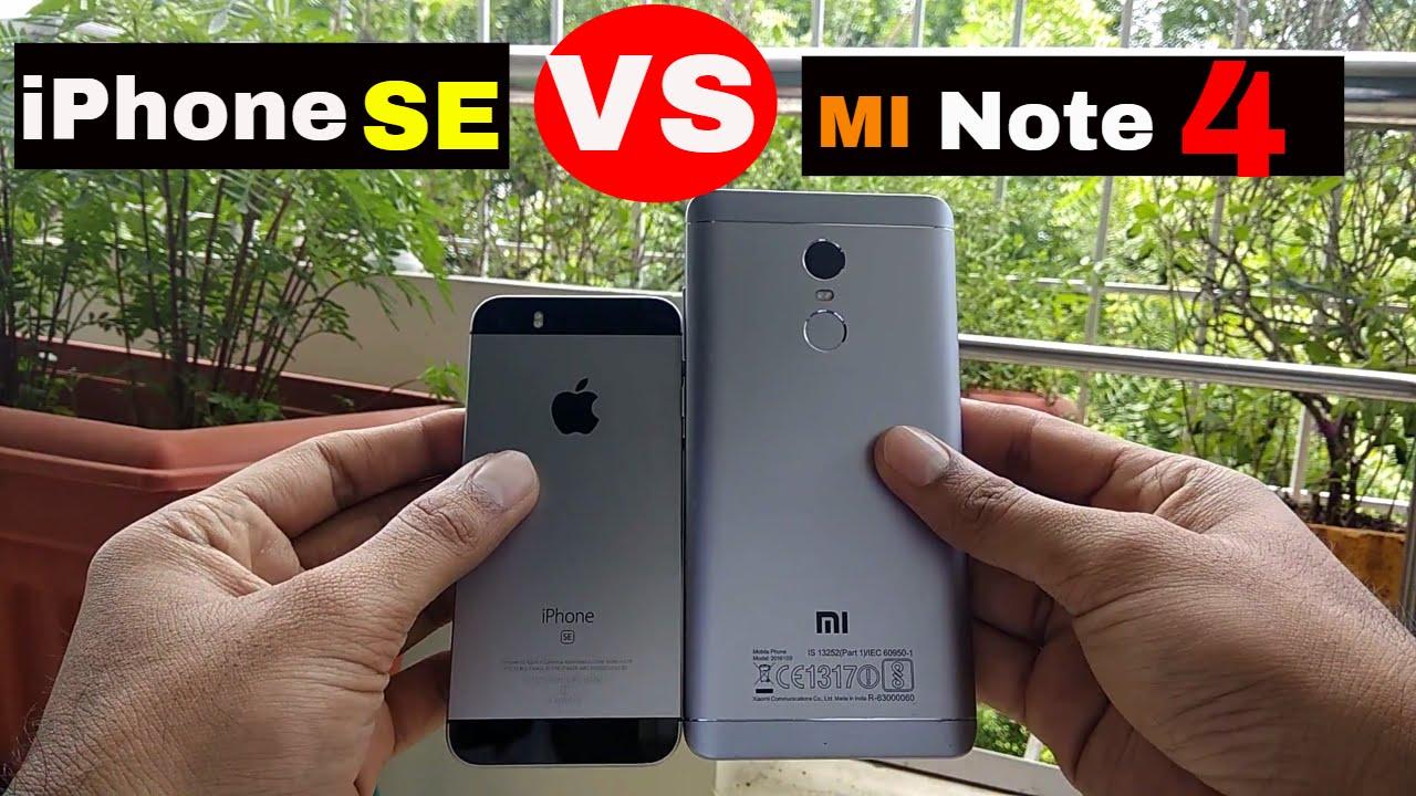 Xiaomi redmi note 4 vs iphone se