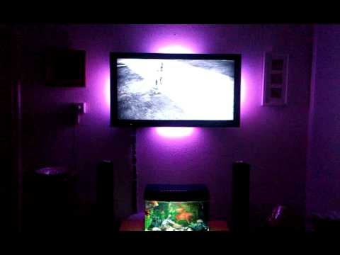 my sony tv led light with small fish tank youtube. Black Bedroom Furniture Sets. Home Design Ideas