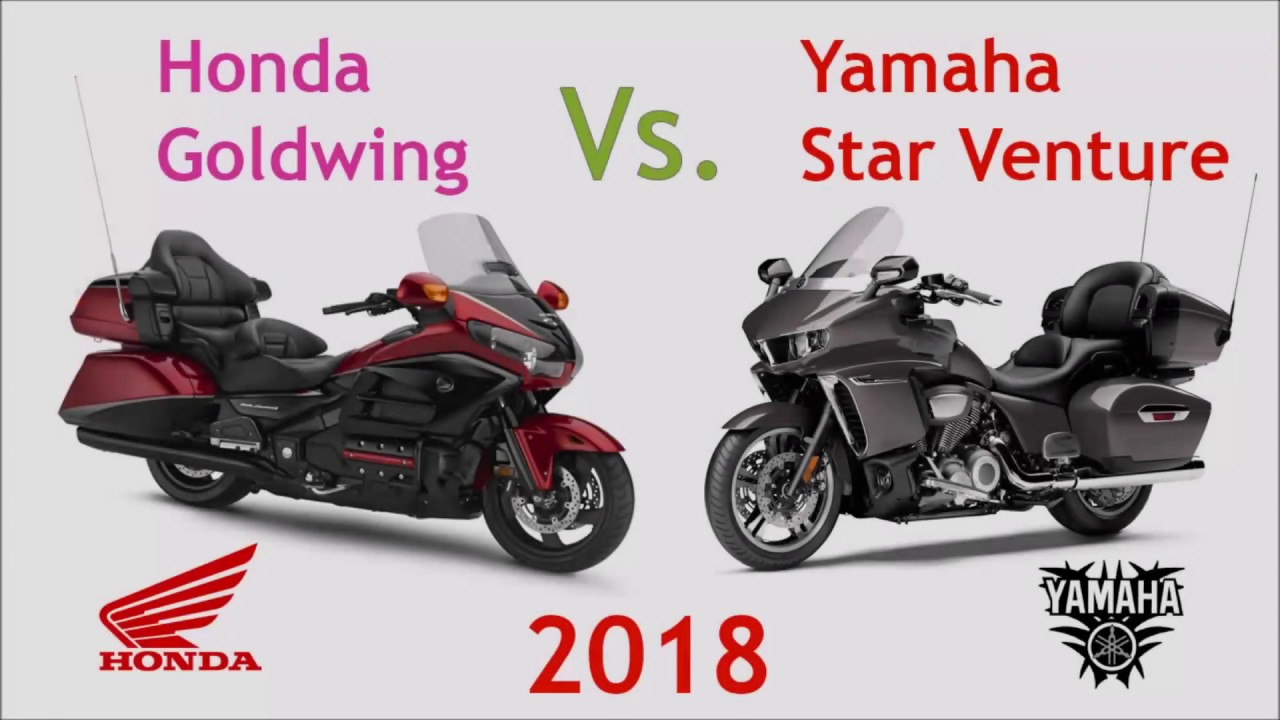 honda goldwing vs. yamaha star venture - youtube